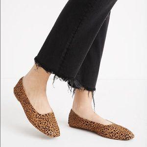 Madewell Cory Calf Hair Leopard Flats